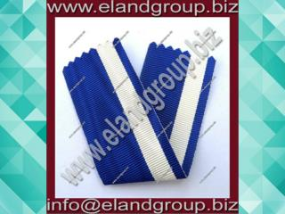 Medal Ribbon White & Blue