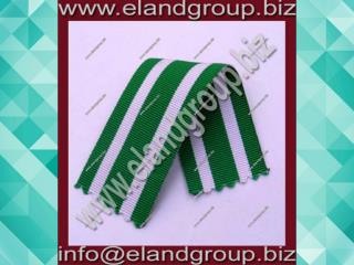 Medal Ribbon White & Green
