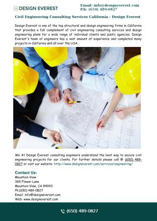 Engineering Services California - Design Everest