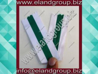 Medal Ribbon White & Green ribbon