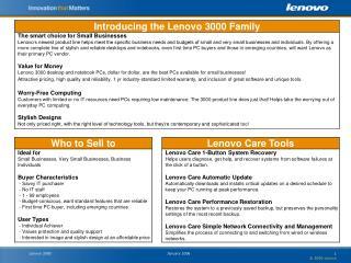 January 2006   2006 Lenovo Lenovo 3000