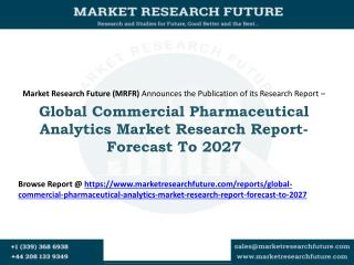 Global Commercial Pharmaceutical Analytics Market Research Report- Forecast To 2027