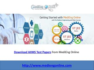 AIIMS Test Papers
