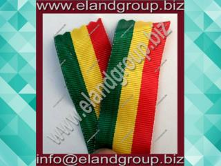 Military Green, yellow & red Ribbon Bars Ribbon