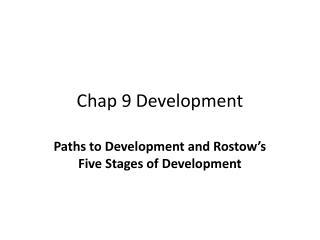 Chap 9 Development