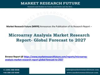 Microarray Analysis Market Research Report- Global Forecast to 2027