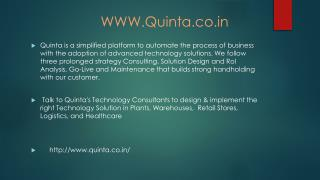 Consulting,Solution Design and RoI Analysis,Go-Live and Maintenance.