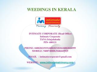 wedding in kerala
