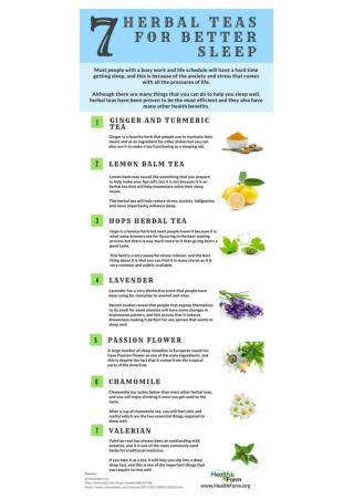 7 Best Herbal Teas To Help You Sleep Well