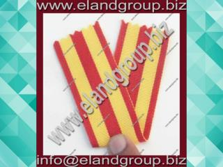 Military Red & Yellow Medal Ribbon