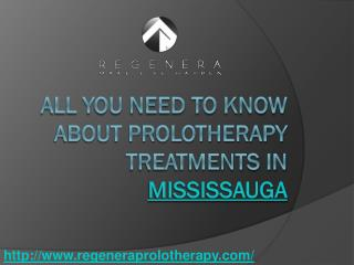 All You Need To Know About Prolotherapy Treatments In Mississauga