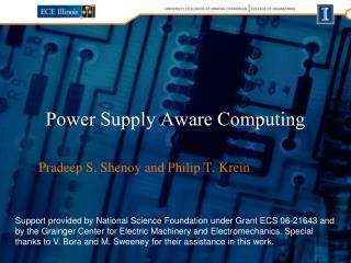 Power Supply Aware Computing