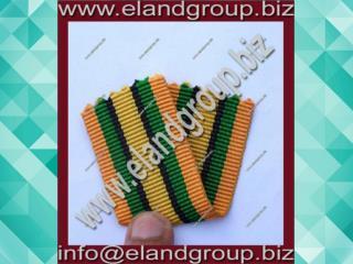 Moire Medal yellow & Green ribbon