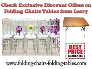 Check Exclusive Discount Offers on Folding Chairs Tables from Larry