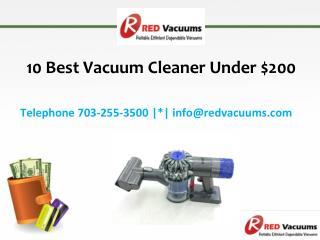 10 Best Vacuum Cleaner Under $200