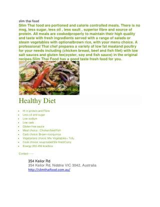 diet food Melbourne