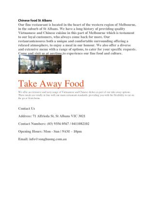Take away food St Albans