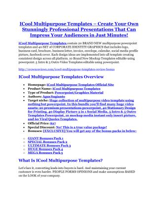 ICool Multipurpose Templates review-(MEGA) $23,500 bonus of ICool Multipurpose Templates
