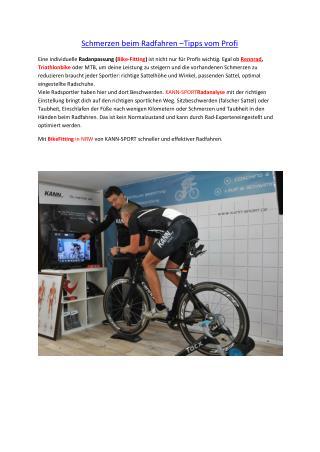 Schmerzen beim Radfahren –Tipps vom Profi