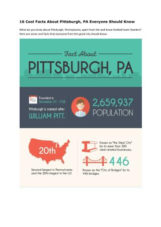16 Cool Facts About Pittsburgh, PA Everyone Should Know