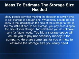 Storage units Ideas