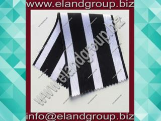 Black And White Moire Ribbon