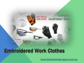 Embroidered Work Clothes