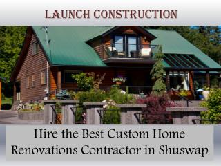 Shuswap Professional Building Contractors