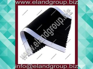 Black With White Edges Moire Ribbon