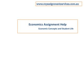 Economics Assignment Help in Australia by our best expert