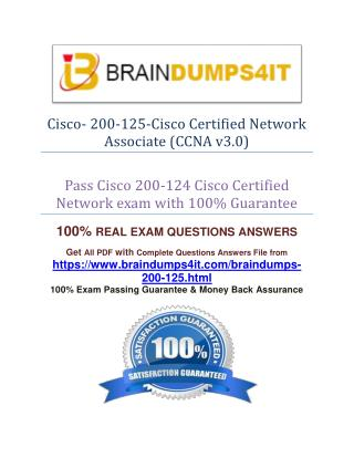 Cisco 200-125 Practice Exam Question