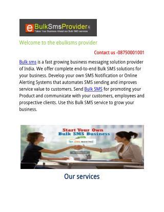 Advantage of using Bulk SMS Services