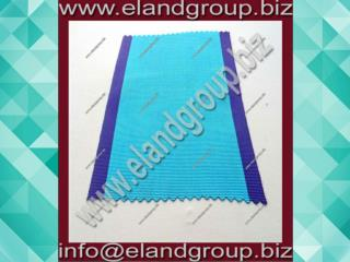 Sky Blue With Purple Edges Moire Ribbon