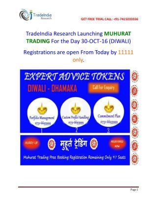 TradeIndia Research MUHURAT TRADING