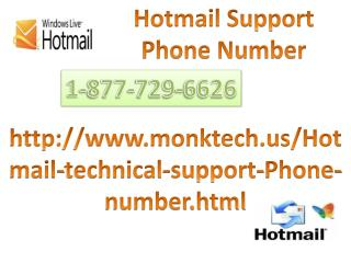 Account Hacked ? Call 1-877-729-6626 Hotmail Tech Support