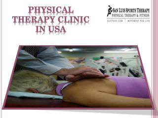 Physical therapy clinic in USA