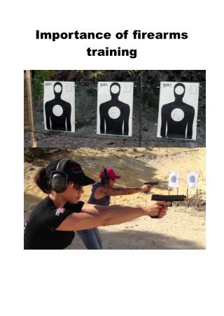 Importance of firearms training