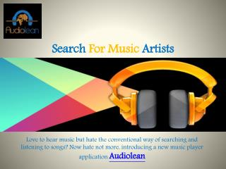 Search For Music Artists