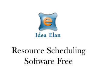 Resource Scheduling Software Free