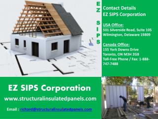 Structural insulated panels | EZ SIPS