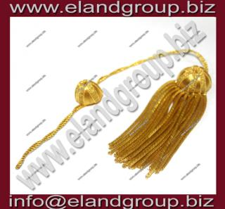 Doctoral Tam Black velvet Bullion Tassel