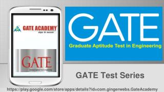 GATE Test Series Preparation App