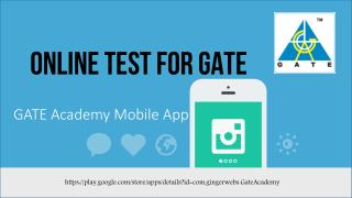Online Test For GATE Exam 2017