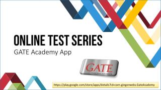 GATE 2017 Online Test Series