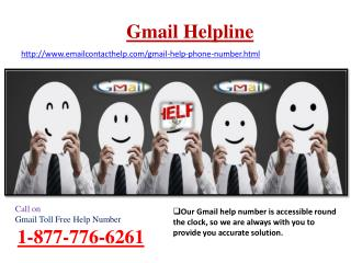 Dial Gmail Toll Free Help Number 1-877-776-6261 Immediately For Instant Help