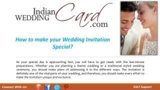 How to make your Wedding Invitation Special