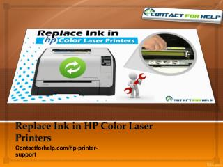 Get HP PRinter Support for replacing an ink