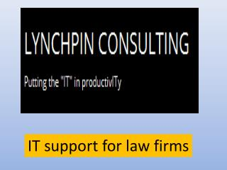 IT support for law firms