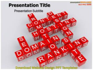 Download Website Design PPT Templates