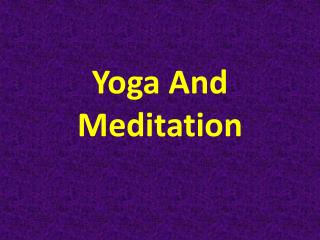 Meditation�Its Benefits